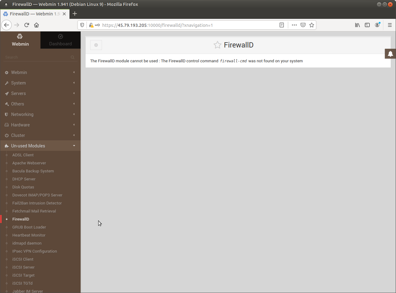 Webmin has good support for FirewallD - but it must be installed from the shell